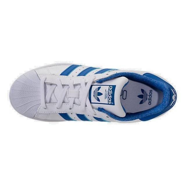 94676cf9 W Tenis adidas Superstar Blanco - Azul #4.5 (piel) - $ 1,399.00 en ...