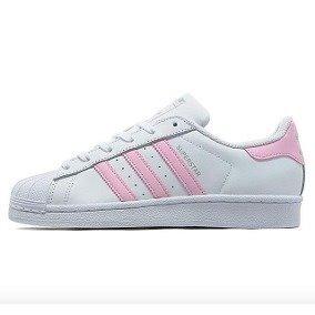 6d30f5d1839763 W Tenis adidas Superstar Blanco C  Rosa.  2.5 (piel) -   1