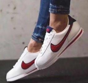 size 40 a4db5 51c3c W Tenis Nike Cortez Blanco De Piel # 22.5 Y 25 Mx + Caja