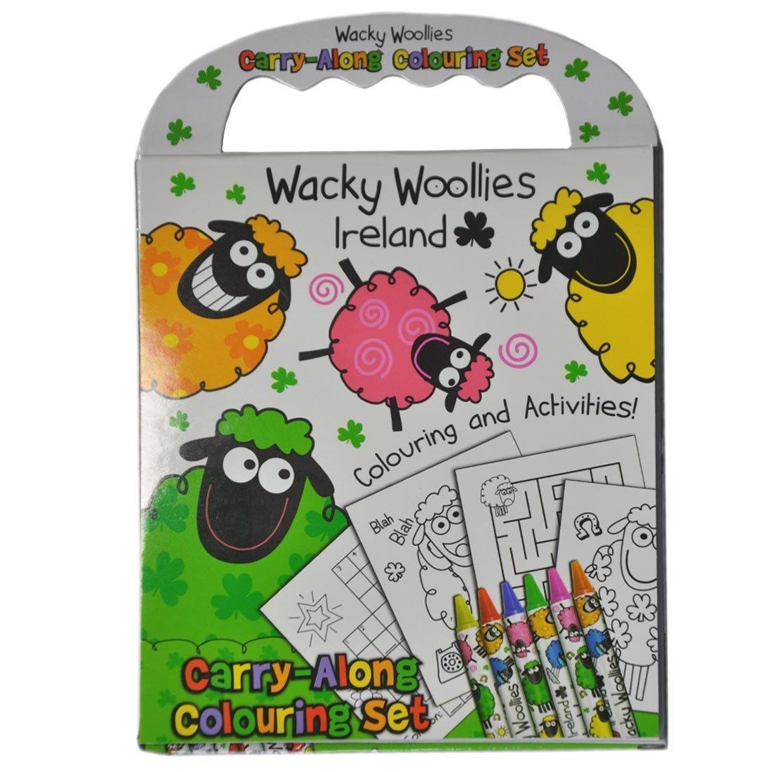 Wacky Woollies Irlanda Para Colorear Conjunto De Lípices ...