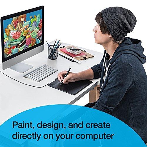 wacom intuos art pen y touch gráficos digitales, tableta de