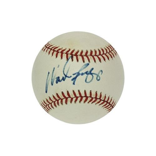 wade boggs autografió béisbol oficial de la liga americana -