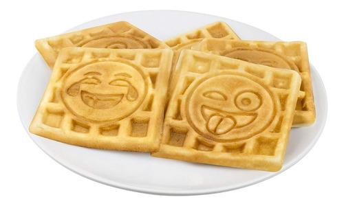 wafflera con diseño de emojis
