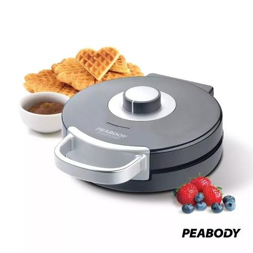 wafflera electrica peabody wm185 antiadherente 1000w waffles