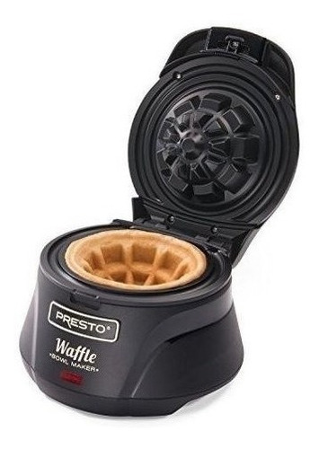 wafflera presto 03500 belgian bowl negra