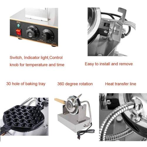waflera comercial de acero inoxidable, control temperatura