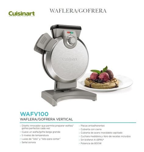 waflera cuisinart vertical wafles antiadherente 120 volts
