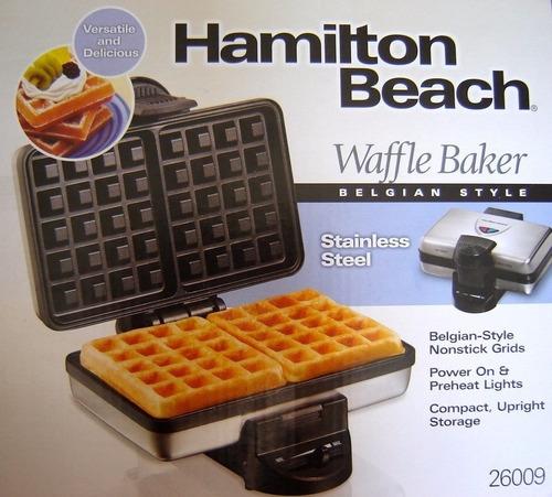 waflera hamilton beach 26009/2 wafles nueva de paquete