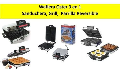 waflera oster sanduchera grill parrilla 3 en 1 reversible