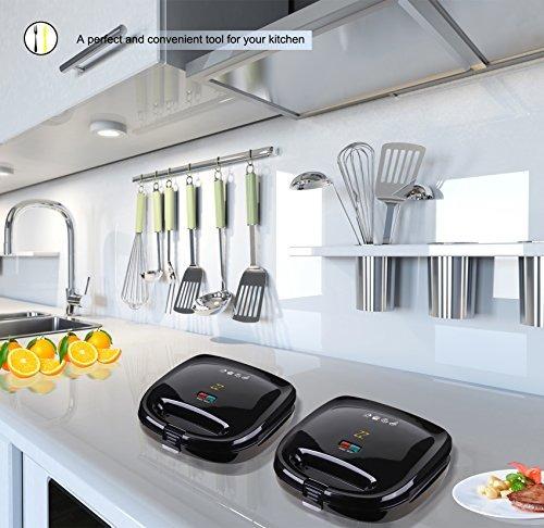 waflera sanduchera y maquina de omelette zz s6141a-b 4 en 1