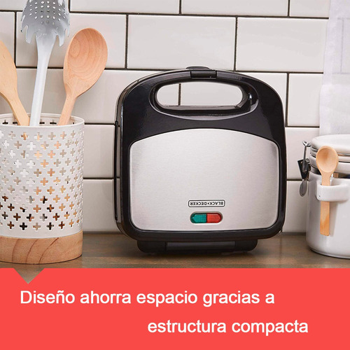 waflera sandwichera parrila 3 en 1 black decker removibles