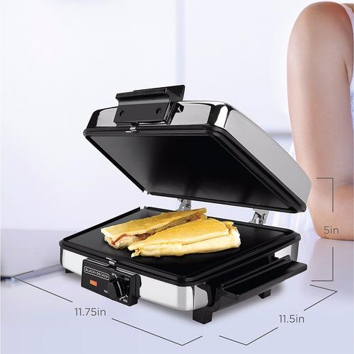 waflera sandwichera, parrilla, 3en1 plateado 1200 watt acero