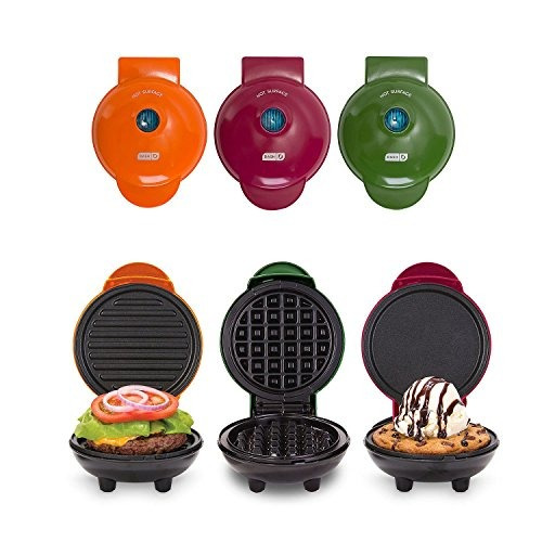 wafleras dash mini maker 3-piece griddle,