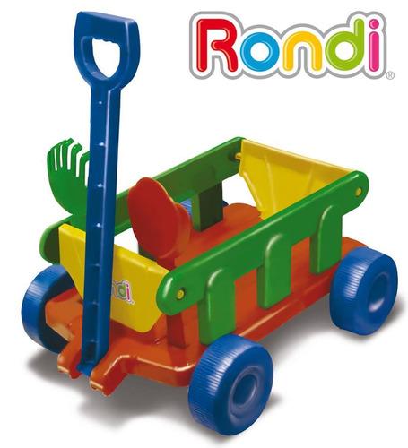 wagon carro de arrastre con manija rondi 3097
