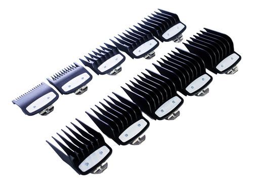 wahl kit x10 alzas peines premium para cortadora fade