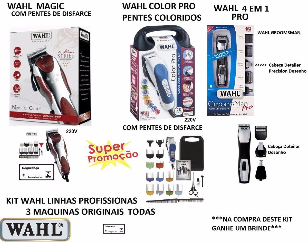 d6bb587a3 wahl magic clip 220v +wahl color + groomsman cabeça detailer. Carregando  zoom.