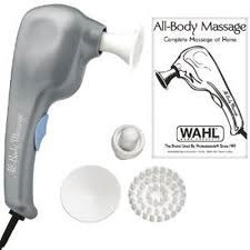 wahl masaje eléctrico 2 velocidades 4 accesorios intercambia