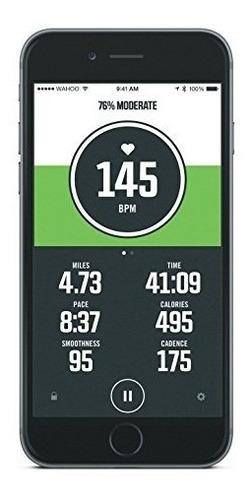 wahoo fitness tickr banda monitor pulsaciones cardíacas ipho