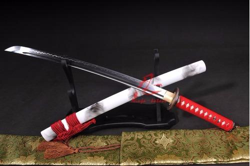 wakizashi espada samurai curta aço t10 forjada original