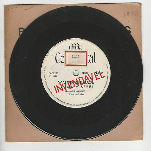 waldir andrade - 1969 - sonho impossivel - compacto - ep f8