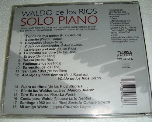 waldo de los rios solo piano cd sellado / kktus