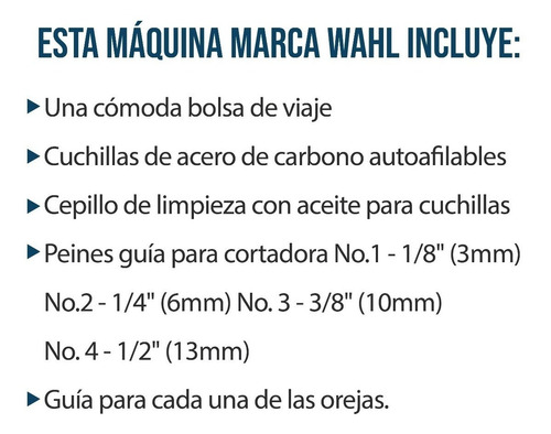 walh patillera mini pro maquina corte para hombre / impoluz