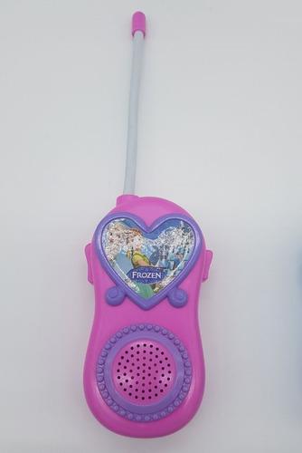 walk talkie infantil frozen princesa ana elsa na caixa
