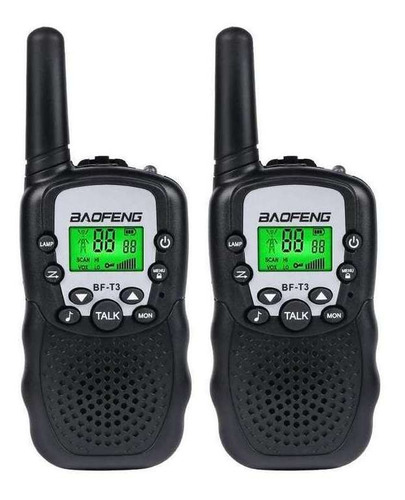 walkie talkie 2 unidades 22 canales 1 a 3 km 10 tonos nnet