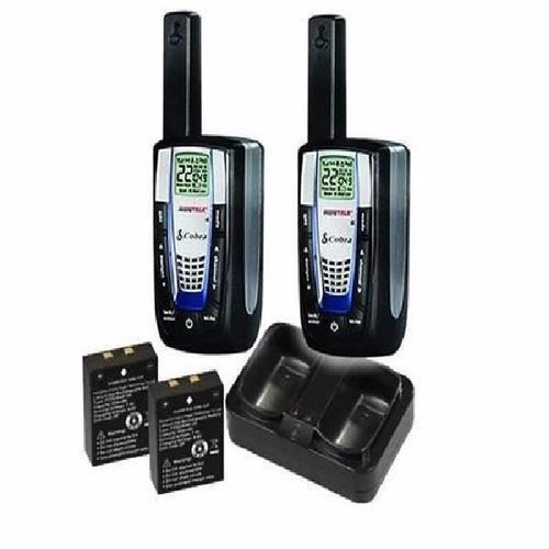 walkie talkie cobra cxr-825 microtalk até 35 milhas - preto