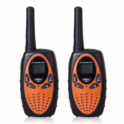 walkie talkie floureon 22 canal frs / gmrs 3 millas 4 piezas
