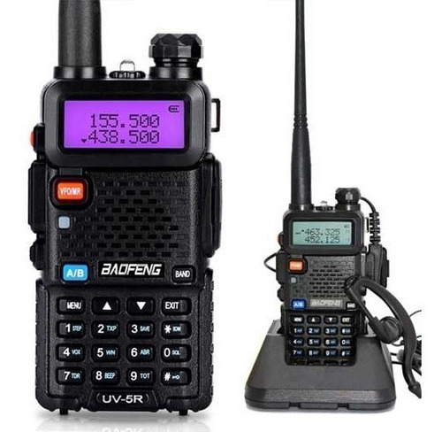 walkie talkie handy baofeng 6km 128 ch. vhf uhf fm marina