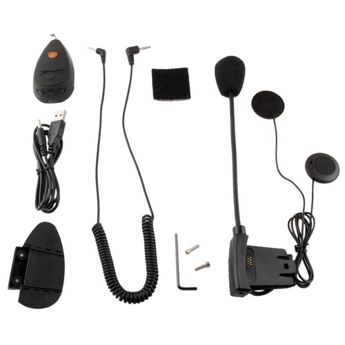 walkie talkie motocicleta v2-100b 100m bluetooth negro