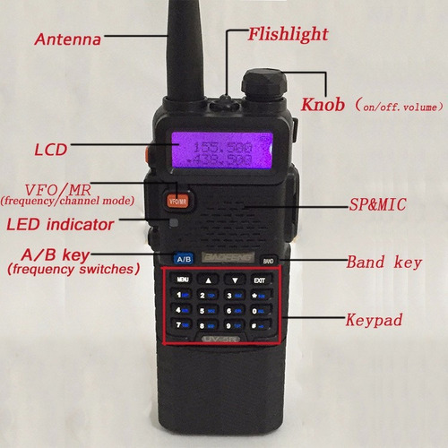 walkie talkie profesional baofeng uv-5r intercomunicador