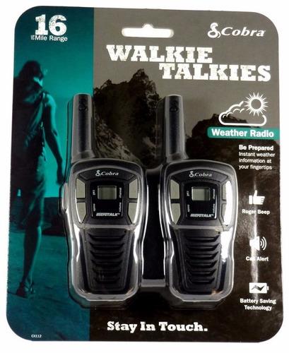 walkie talkie px cobra cx-112 16 milhas 110v