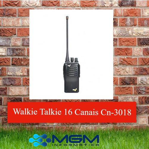 walkie talkie rádio fm 16 canais cn-3018  7w 400 ~ 470mhz