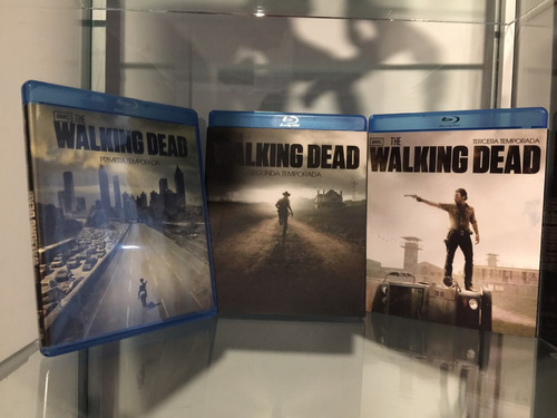 walking dead bluray temporadas 1, 2 y 3 como nuevo