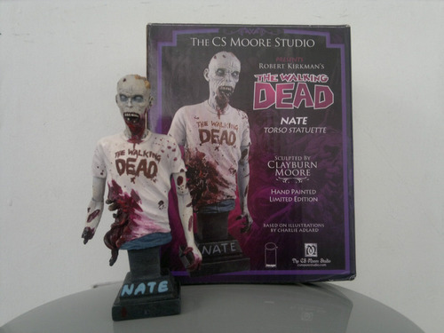 walking dead  nate torso statuette