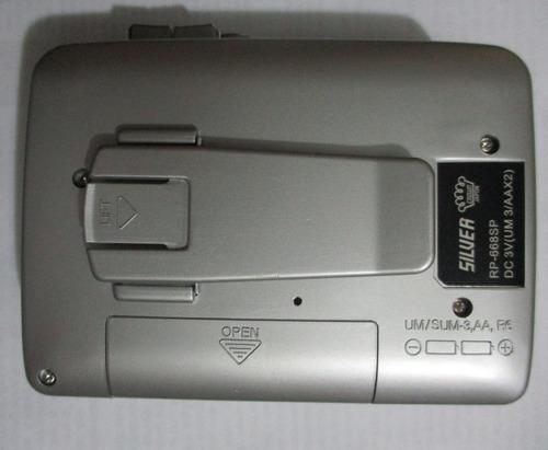 walkman casette nuevo silver