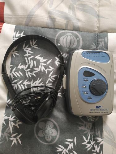 walkman cassete tecno sound am/fm stereo