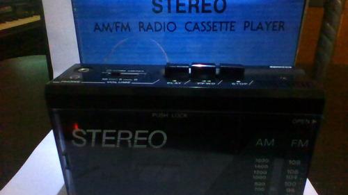 walkman  nippon america radio am/fm reproduce cassete nuevo