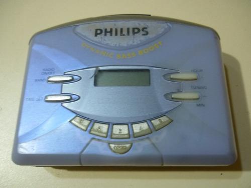 walkman radio reloj digital philips aq6691