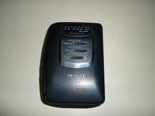 walkman reproductor de cassette aiwa ta214 con detalles