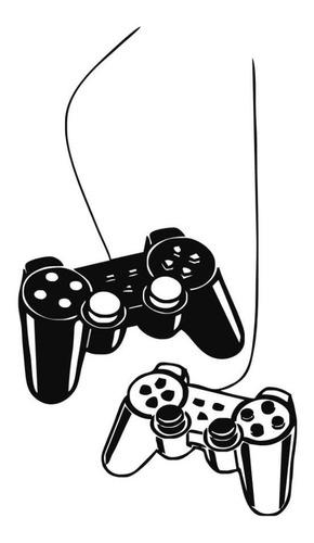wall art decal joystick gamer video controller boy room...
