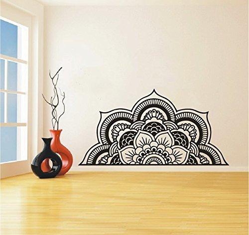 wall decal half mandala headboard wall sticker yoga bo...