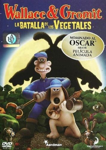 wallace & gromit- la batalla de los vegetales- dvd- original