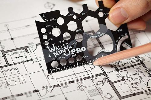 wallet ninja pro: herramienta de medición de tamaño de ta