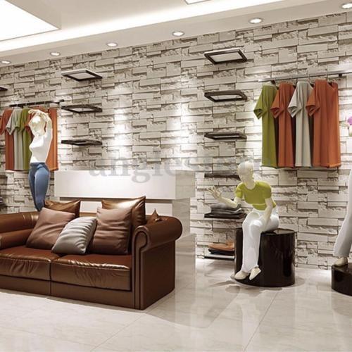 wallpaper 3d dormitorio ladrillo piedra moderno mural pared