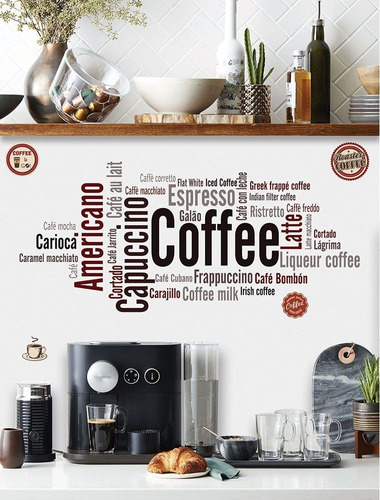 wallsticker autoadhesivo vinilo muresco coffee