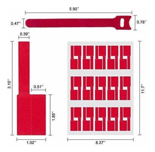 waloden 480 piezas etiquetas de cable autoadhesivo impermeab