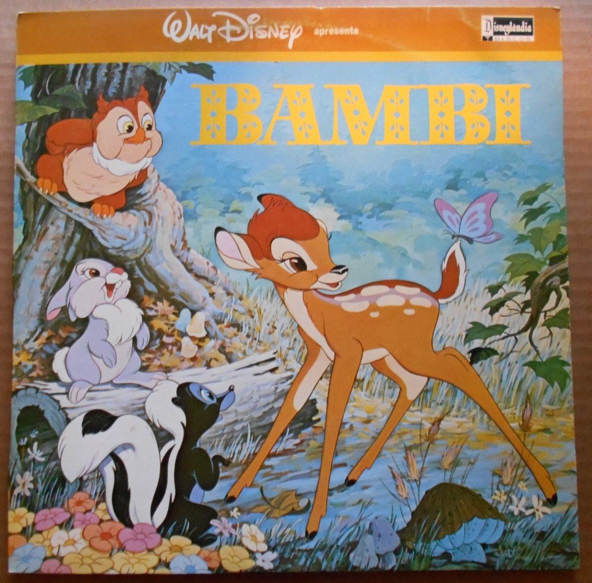 Walt Disney Lp Bambi Trilha Desenho Animado Vinil Colorido R 50